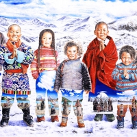 Tibet Himalaya 218x333cm Oil on Canvas 2010