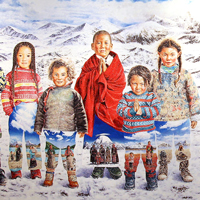 Tibet Himalaya 218x666cm Oil on Canvas 2010