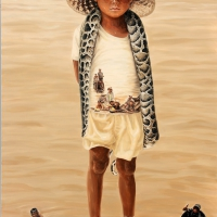 Lim Young Sun: Tonle Sap 194x145cm Oil on Canvas 2008