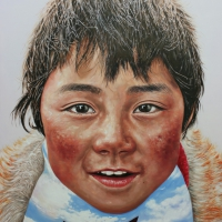 Tibet Himalaya 162x130cm Oil on Canvas 2010