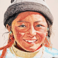 Tibet Himalaya 116.5x90cm Oil on Canvas 2010