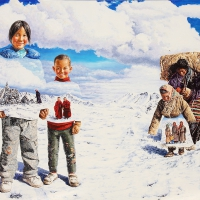Tibet Himalaya 130x162cm Oil on Canvas 2010