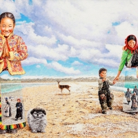 Tibet NamCo 130x162 Oil on Canvas 2010