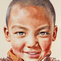 Lim Young Sun: Tibet Himalaya 260x164cm Oil on Canvas 2011
