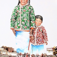 Tibet Lasa 194x260cm Oil on Canvas 2010