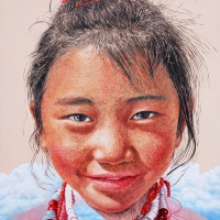 Lim Young Sun: Tibet Himalaya 116.5x90cm Oil on Canvas 2011