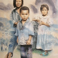 Lim Young Sun: Qianjiazhai 260x194cm Oil on Canvas 2007